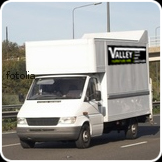 Valley Furniture Hire van on the road